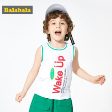 Balabala Boys vest children 2020 summer baby cotton vest outer wear comfortable breathable fashion loose sleeveless top(China)