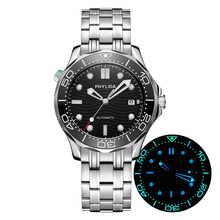 Automatic-Watch Mechanical MIYOTA Sapphire Crystal Diver300m-Style Black JAPAN 100M HOT