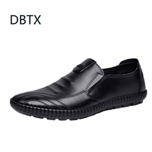 PU Leather Men Casual Shoes Slip On Male Loafers Driving Moc