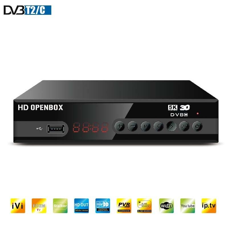 Récepteur TV HD numérique MPEG4 DVBT2 Support récepteur terrestre H.264 1080P