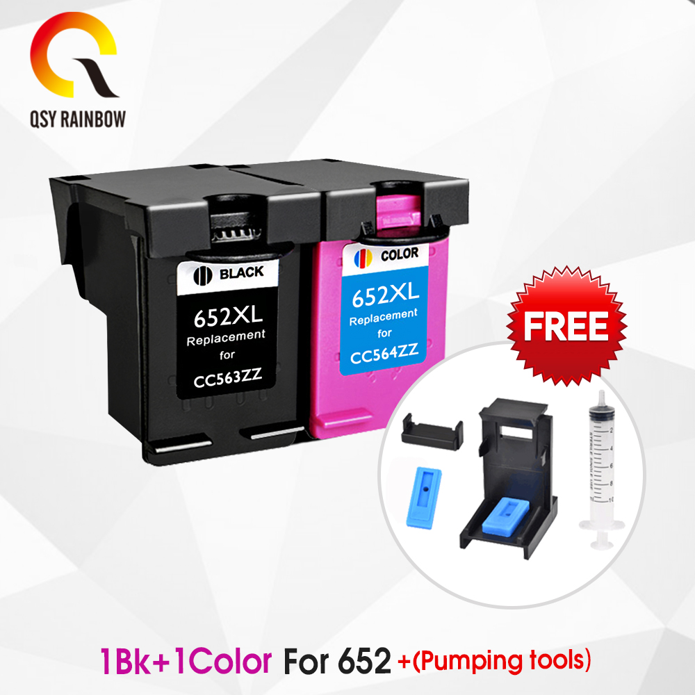 CMYK SUPPLIES 652XL hp652 <font><b>ink</b></font> cartridge replacement for <font><b>HP</b></font> 652 XL for <font><b>HP</b></font> Deskjet <font><b>1115</b></font> 1118 2135 2136 2138 3635 3636 3835 4535 image