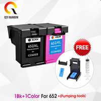 CMYK SUPRIMENTOS 652XL hp 652 substituição do cartucho de tinta para hp 652 XL para hp Deskjet 1115 1118 2135 2136 2138 3635 3636 3835 4535