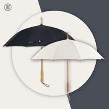 Wooden Japanese Long Handle Umbrella Water Proof Black Girls Luxury Summer Ladies Umbrella Sun Parapluie Home Garden BW50UM
