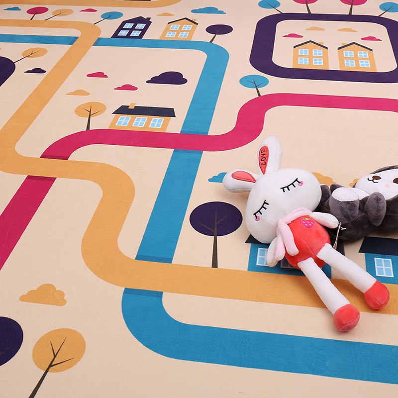 Мультяшный узор, коврик для ванной комнаты, детский игровой коврик, 1 шт., анти-коврик для автомобиля, ползающий ребенок, коврик для ванной, коврик для дивана