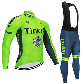 2019 Tinkoff camiseta de Ciclismo para Hombre conjunto de manga larga para...