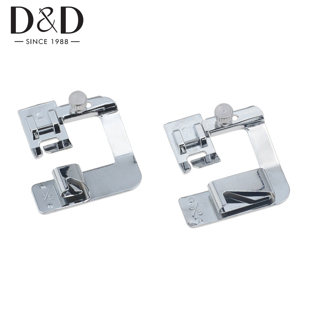 4 Sizes Domestic Sewing Machine Foot Presser Rolled Hem Feet for Household Sewing Machine Parts Tool