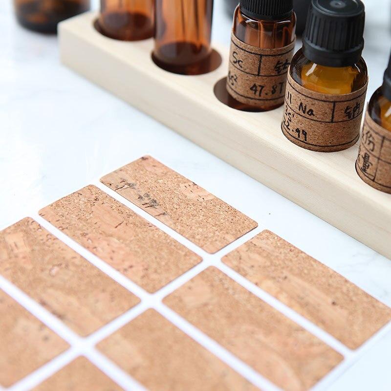 Купить с кэшбэком 1X Handmade Wooden Labels Sticker Packaging Sealing Label Kitchen Bottle Cup Decorative Tags Planner Album Adhesive Sticker