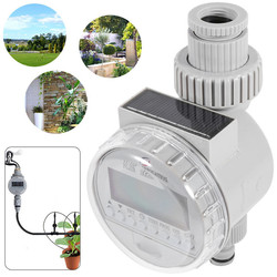 Automatic Irrigation Watering Timers Garden Solar Power Watering Timer Programmable LCD Display Hose Timers Irrigation System
