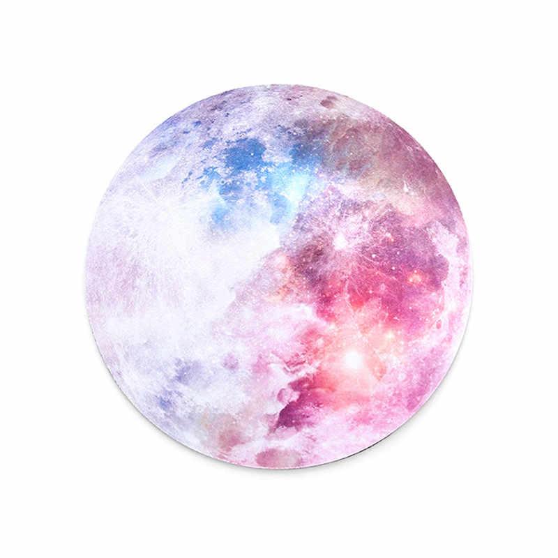 Tapis de souris rond Anime planète série tapis de souris terre/vénus/Mars/mercure/Jupiter/pluton/arc-en-ciel lune ordinateur périphériques accessoire
