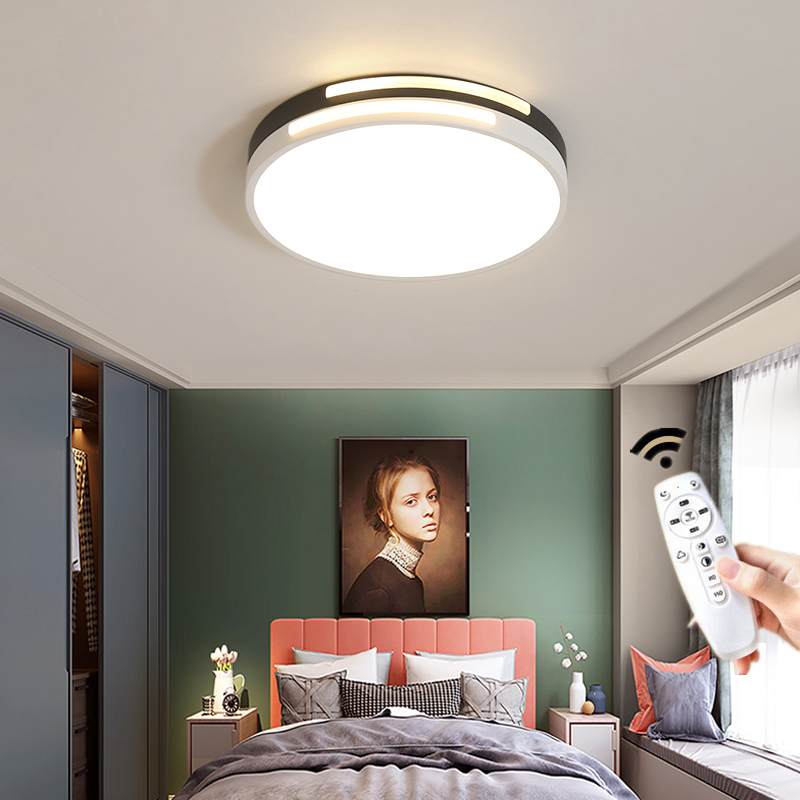 Modern Round Square Led Ceiling Light Lamp with Remote Control for Living Room Kids Room Kitchen Bathroom Bedroom Loft Corridor in Ceiling Lights from Lights Lighting