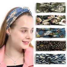 Широкие богемные повязки на голову эластичные для волос женщин