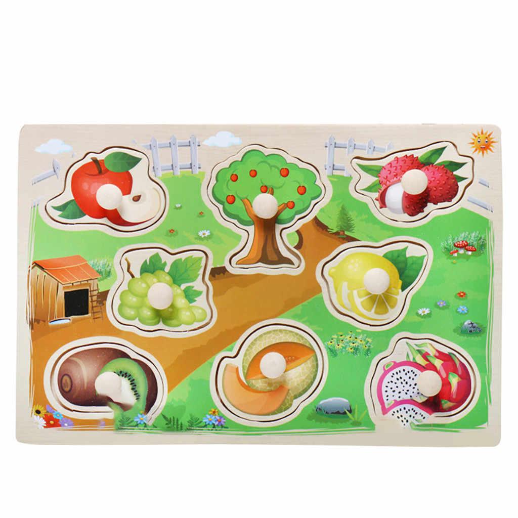 Tablero de asimiento de rompecabezas para niños juguetes de rompecabezas para niños y niñas juguetes educativos de aprendizaje para regalos de cumpleaños para Niños # F