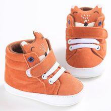 Cute Fox Baby Boy Shoes Kid Boy Cotton Anti-slip Soft Sole T