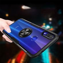 For redmi note7 Transparent Case with Magnetic Vehicle Support Ring case xiaomi note5 cover redmi7