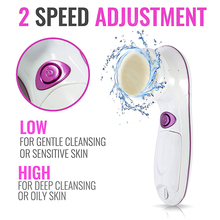 4-In-1 Electric Facial Cleansing Devices Cleaning Brushes Pore Cleaner Exfoliator Skin Spa Beauty Massager