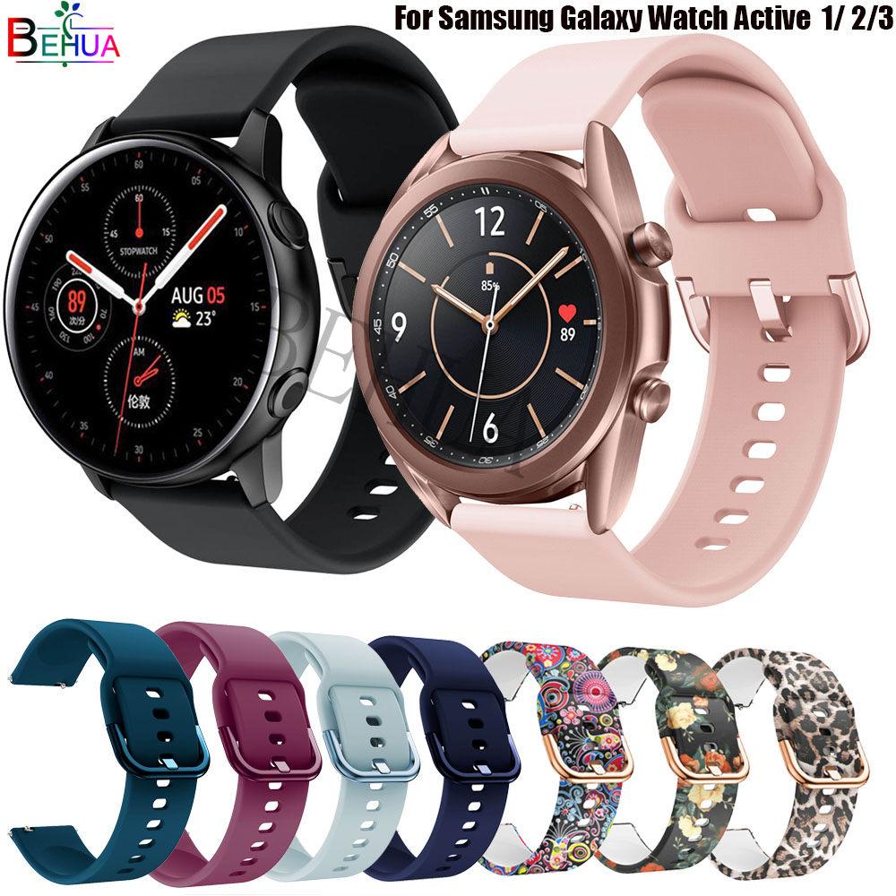Ремешок силиконовый для Samsung Galaxy Watch Active 2 40 мм 44 мм/3 41 мм 45 мм, браслет для Huawei GT 2 46 42 мм, 20 мм 22 мм