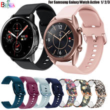 Bracelet en Silicone 20mm 22mm, pour Samsung Galaxy Watch Active 2 40mm 44mm / 3 41mm 45mm/pour Huawei GT 2 46 42mm