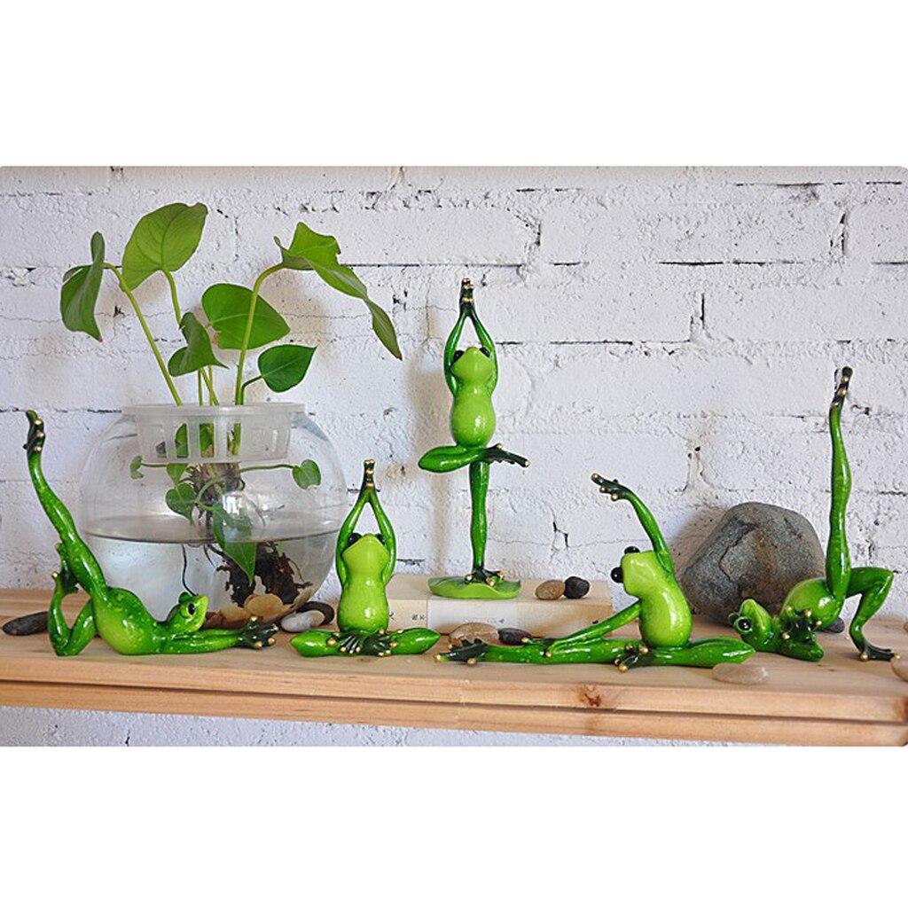 3D Креативные украшения фигурки лягушек ручной работы из смолы лягушки статуи йоги скульптуры для домашнего сада растения бонсай Декор