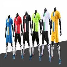 DIY Детские пустые футбольные майки футбольной форма под заказ camiseta de futbol для мужчин maillot для мальчиков Футбольная форма voetbal тренировочный костюм