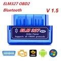 Топ OBD V2.1 V1.5 Мини ELM327 OBD2 Bluetooth Автомобильный сканер OBDII 2 автомобильный тестер ELM 327 Диагностический инструмент для Android Windows Symbian