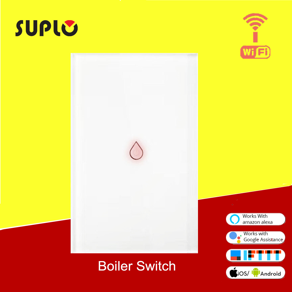 SOPLO Wifi Boiler Smart Switch Water Heater Switches Voice Remote Control US Touch Panel Timer Outdoor Work Alexa Google Home