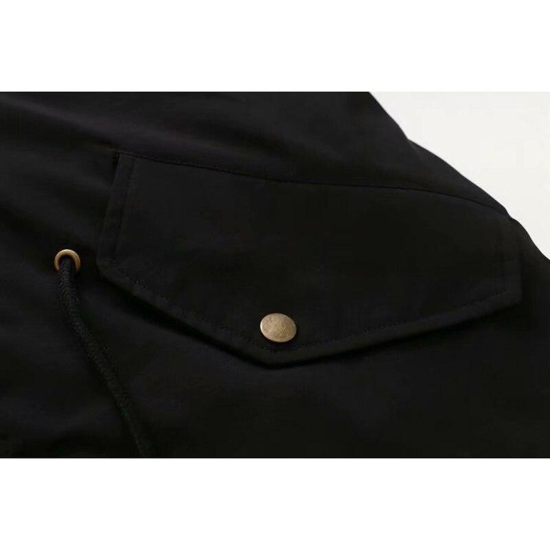 Зимняя женская куртка размера плюс, теплая, до колена, с капюшоном, с хлопковой подкладкой, куртки для женщин, Утолщенные, Длинные парки, верхняя одежда - 6