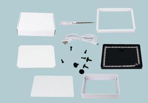 Пластиковая рамка бумажный светильник DIY полный набор пустая бумага теневая коробка рамка Декор Рамка