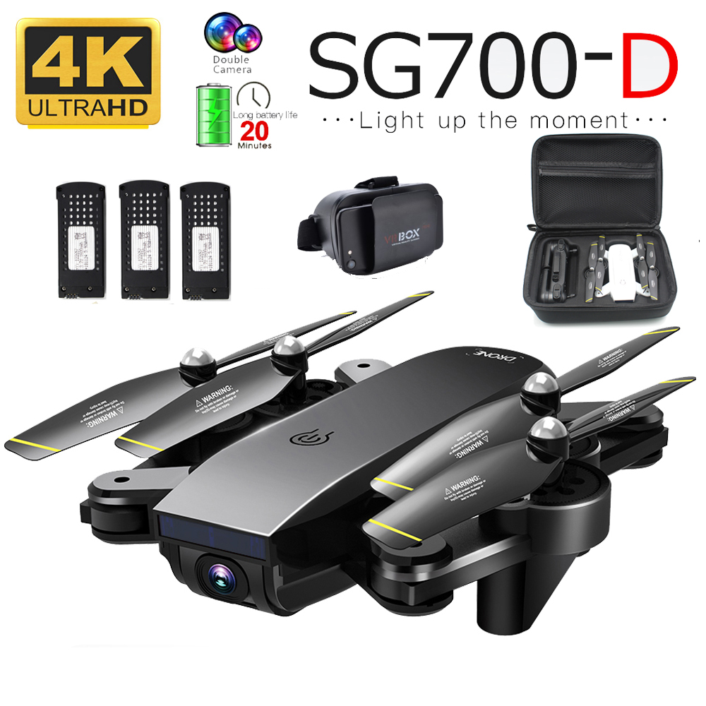 SG700D RC Drone With 4K Camera Wifi FPV Quadcopter 22mins Flight Time Gesture Control Foldable Dron Vs SG900 XS816 SG106