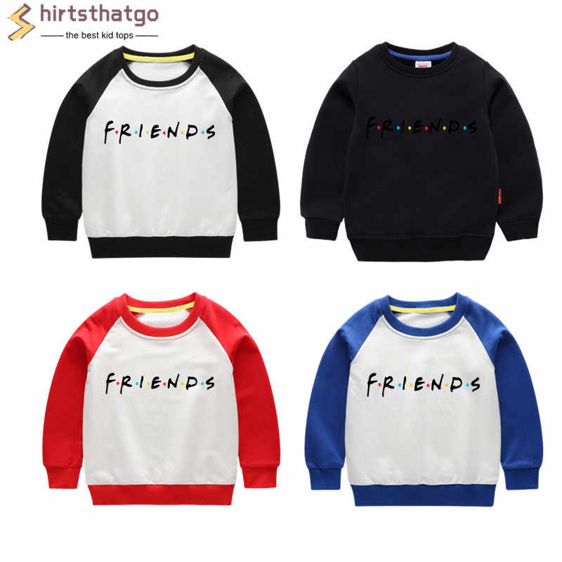 Boy Girl P Friends Funny Sweatshirts Kid Autumn Toddler Winter Clothes Kid Pullover Tops Black Friday Gift