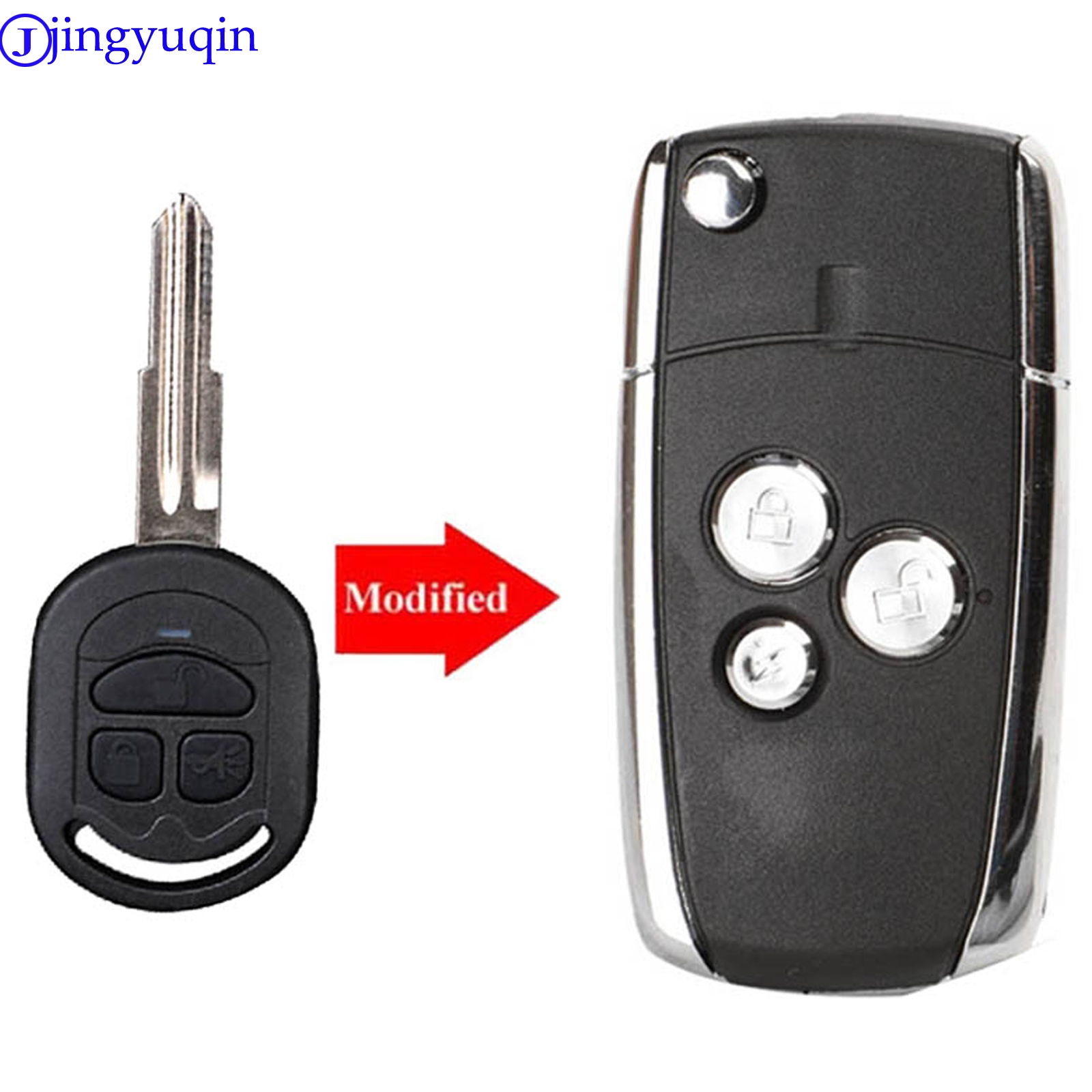 jingyuqin Modified Flip Folding Remote Key Shell Case For Chevrolet optra 2009 For Buick Excelle HRV (After 2005 year)(China)