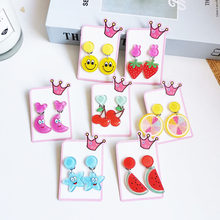 Hot selling girls cartoon non-pierced earrings fruit animal cute student non-pierced earrings fake earrings fashion jewelry