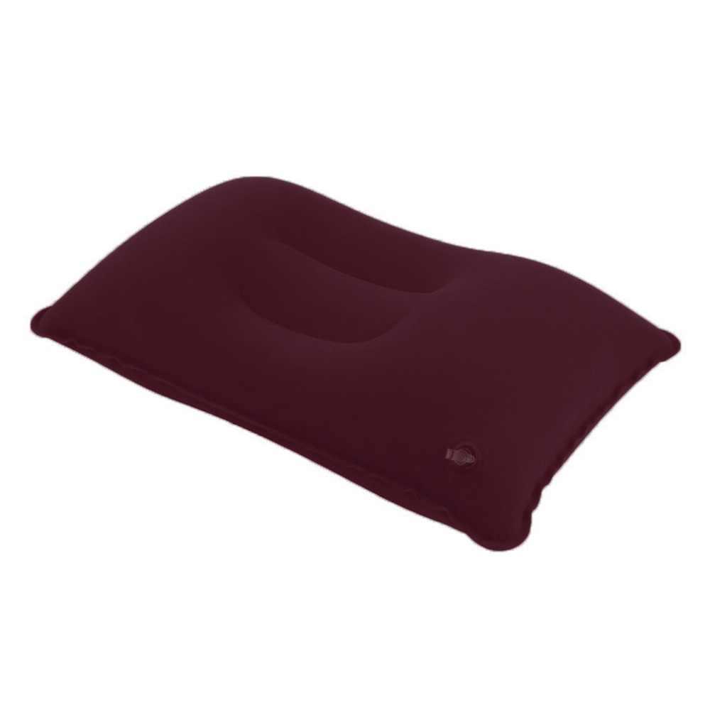 3 renk açık taşınabilir katlanır hava şişme yastık çift taraflı akın yastık seyahat düzlem için otel uyku yastık