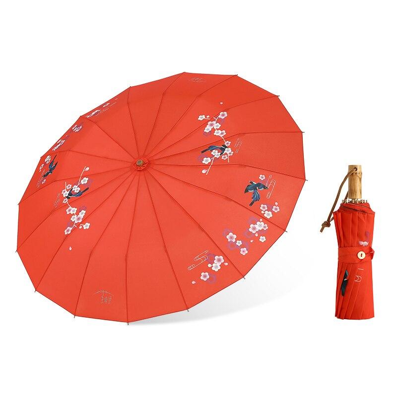 Chinois Vintage huile papier parapluie pour les femmes pliant Uv Protection personnalité créative pluie parapluie Sombrinha vêtements de pluie MM60YS