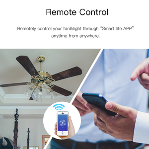 Image 5 - WiFi Smart Ceiling Fan Light Lamp Wall Switch Smart Life/Tuya APP Remote Various Speed Control Works with Alexa Echo Google Home