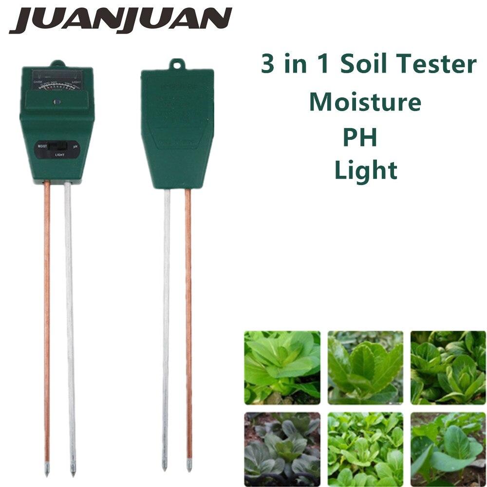 Измеритель почвы 3 в 1 влагостойкий светильник тестер кислотности с 2 зондами монитор почвы для садовых растений тест инструмент цветок 60% ск...