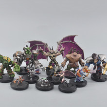 Trpg Miniaturen Board Game Elf Dwarf Warrior Priest Goblin Warlock Rogue Troll Assassin Orc Tauren Succubus Element Figuur Model(China)