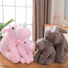 40/60cm Soft Lovely Rhinoceros Plush Pillow Kawaii Stuffed Animal Plush Toys for Children Baby Appease Doll Kids Girls Gift  - buy with discount