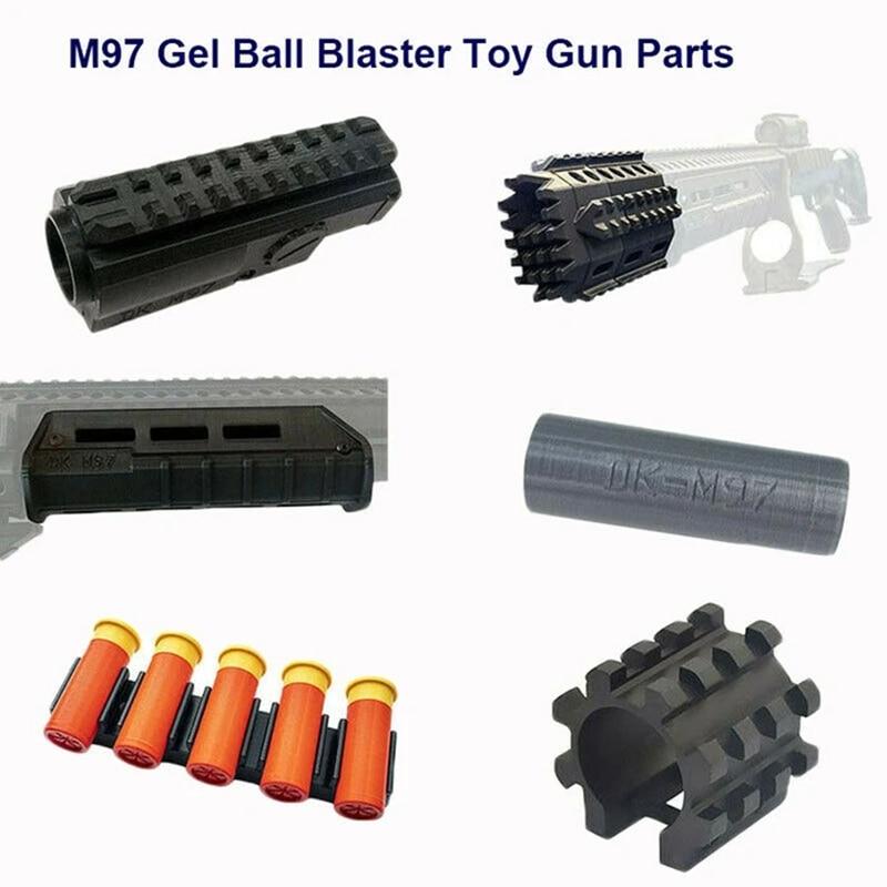 High Quality Nylon M97 Gel Blaster Toy Gun Gear Parts Hopper Hop Up Buttstock Darts Shell Handguard CS Sports