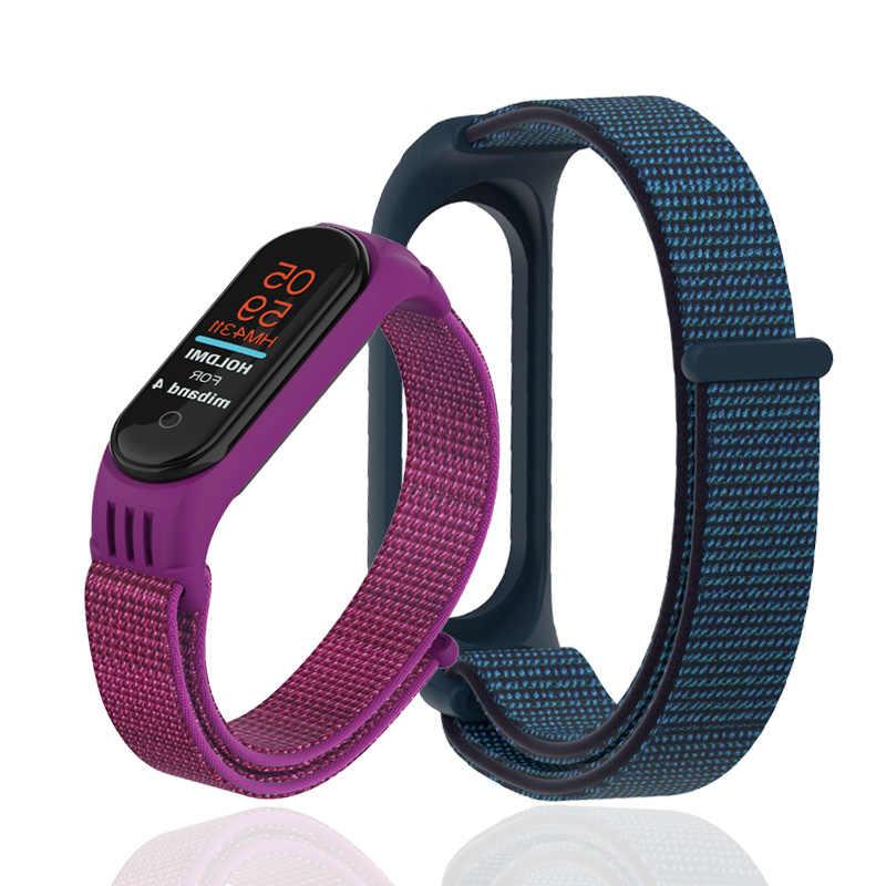 Velcro cinturino in nylon per xiaomi mi banda 4 braccialetto NFC astuto Della Vigilanza di ricambio mi fascia 3 colorful strap anti-perso wristband