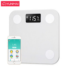 Hot Smart Yunmai m1501 Mini Mi Scale Bathroom Body Fat Scale Bluetooth Human Weight bmi Scales Floor Weighing Balance Connect стоимость