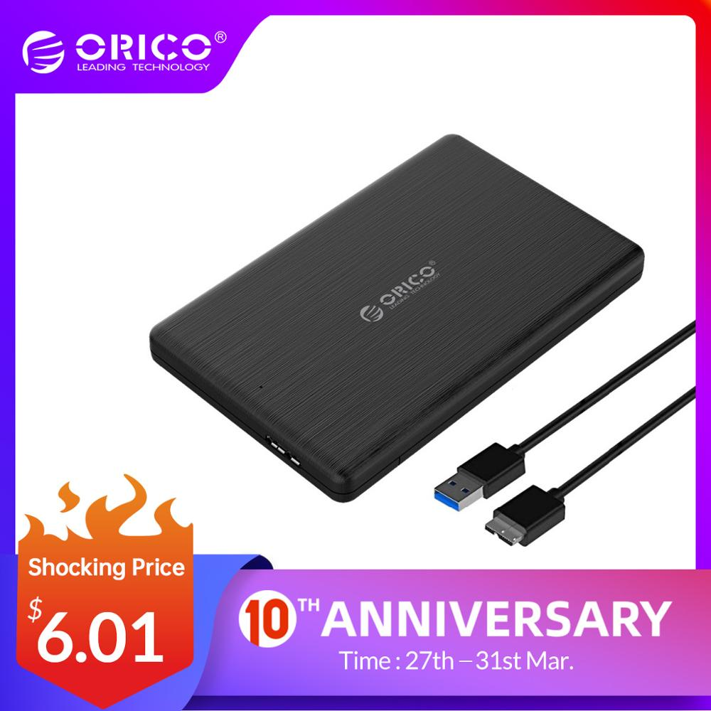 ORICO 2.5 Inch HDD Case USB3.0 MicroB External Hard Drive Disk Enclosure High-Speed Case For 7mm SSD Support UASP SATAIII 2578U3