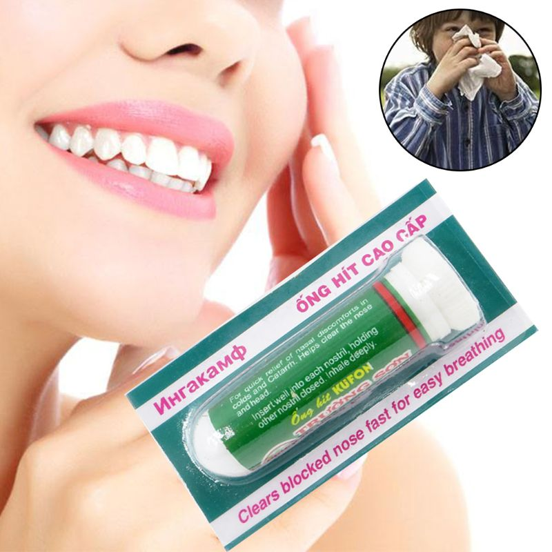 2019 new Natural Mint Herbs Rhinitis Inhaler Sinusitis Nasal Congestion Relief Itchy Allergy Runny Nose Medicine Treatment image