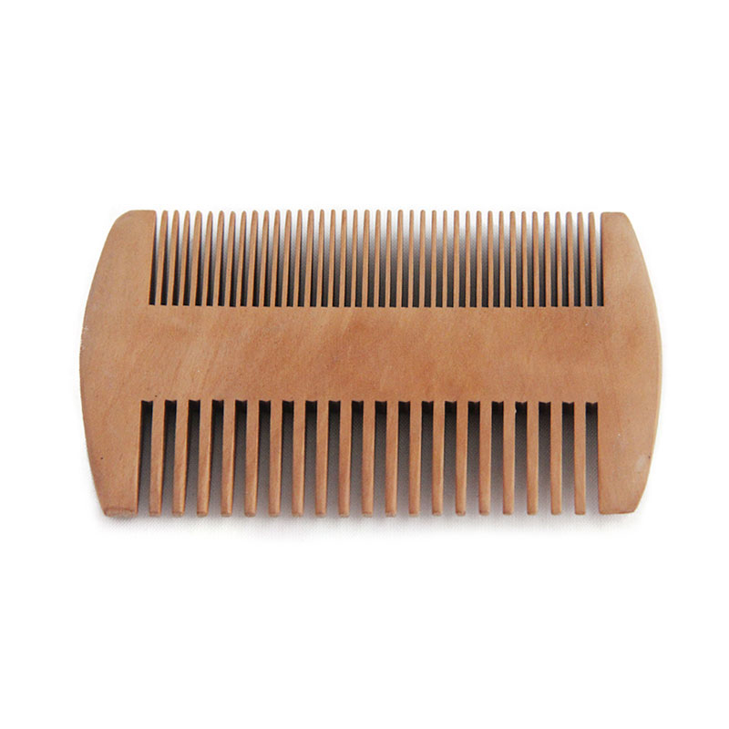 Natural Green Pear Wood Hair Brush Hair Comb For Men Beard Care  Anti-Static Wood Comb Hair Care Tools Round Brushing Brush Hair