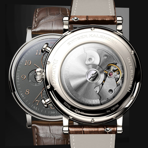 Image 5 - שוויץ LOBINNI גברים שעוני יוקרה מותג לוח שנה התמידית רב פונקציה אוטומטי מכאני ספיר עור שעון L13019 6