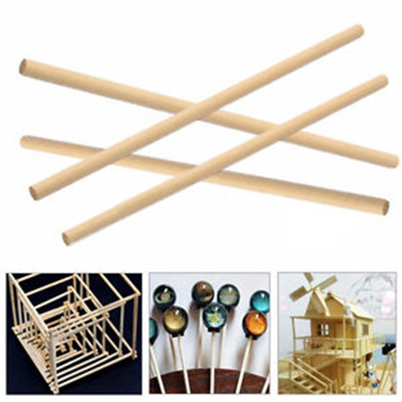 50 Uds barras de madera redondas palos de conteo juguetes educativos modelo de construcción de pasador para hacer piruletas de comida DIY juguetes de artesanía juguetes madera