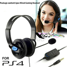 цена на Gaming Headset For PS4 Wired Headphones With Microphone 3.5mm Deep Bass Earphone With Mic for PS4 Sony PlayStation 4 PC Stereo