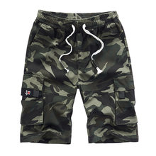 Carga Mens pantalones cortos de verano pantalón de camuflaje algodón deportivo pantalones de chándal de los hombres camuflaje de talla grande 6XL 7XL 8XL militar Pantalon Corto Hombre