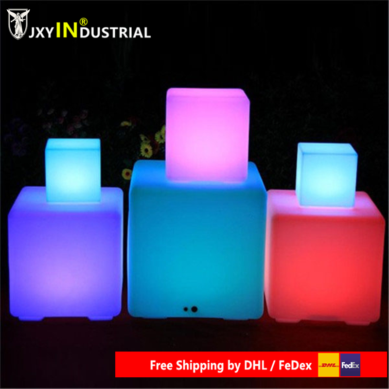 Rechargeable LED Lamp 24keys Remote Control 40*40*40cm Chair SMD 5050 RGB LED Cube Chair Waterproof LED RGB Free Shipping