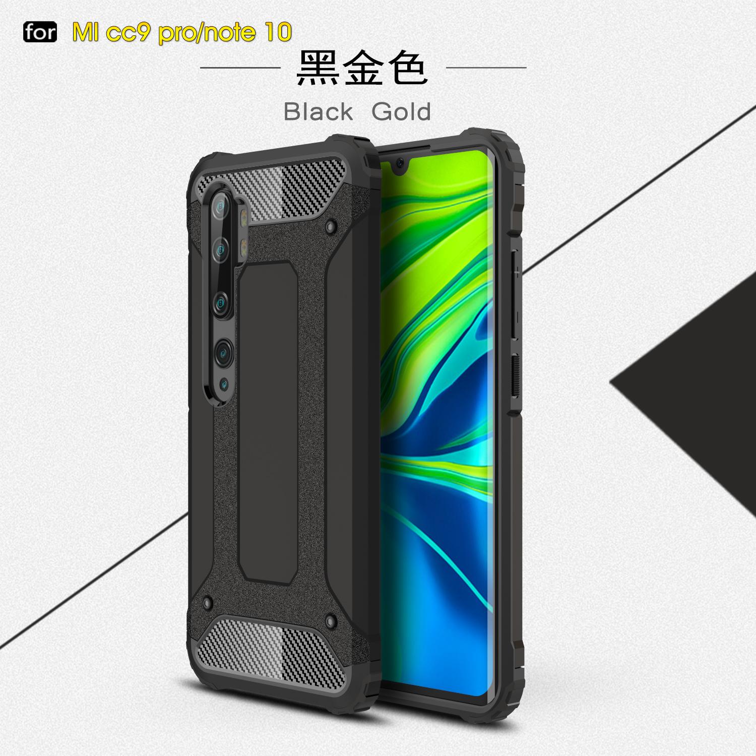 For Xiaomi Mi Note 10 Pro 5G Case Anti-Knock Rugged Hard Armor Cover Mi Note 10 Mi10 Silicone Phone Bumper For Xiaomi Mi 10 Pro