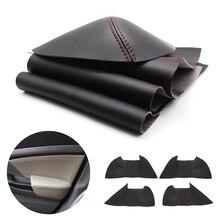 Voor Honda Civic 9th Gen 2012 2013 2014 2015 4 Stks/set Auto Deurklink Panel Armsteun Microfiber Leather Cover